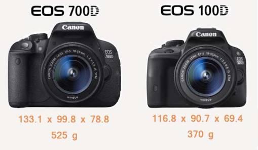 eos 100d comparison